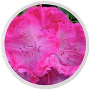 Hot Pink Rhoda Round Beach Towel