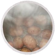 Round Beach Towel featuring the photograph Hot Potato by Kim Nelson