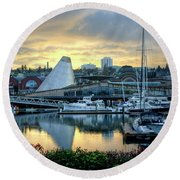 Hot Shop Cone Cloudy Twilight Round Beach Towel by Chris Anderson