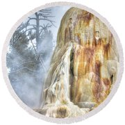 Hot Springs Round Beach Towel