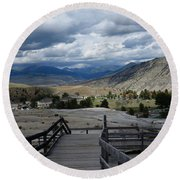 Hot Springs Valley Round Beach Towel