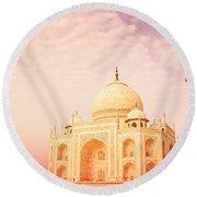 Hot Taj Mahal Round Beach Towel