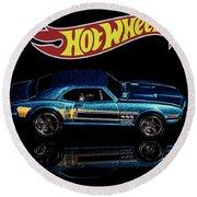 Hot Wheels '67 Pontiac Firebird 400-1 Round Beach Towel