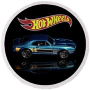 Hot Wheels '67 Pontiac Firebird 400-1 Round Beach Towel