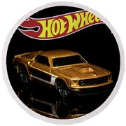 Hot Wheels '69 Ford Mustang 2 Round Beach Towel