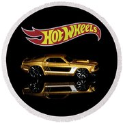 Hot Wheels '69 Ford Mustang Round Beach Towel