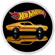 Hot Wheels '69 Mercury Cyclone Round Beach Towel