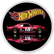 Hot Wheels '70 Chevy Chevelle-1 Round Beach Towel