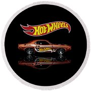 Hot Wheels '70 Dodge Challenger Round Beach Towel