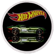 Hot Wheels Fast Felion Round Beach Towel
