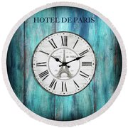 Hotel De Paris Round Beach Towel