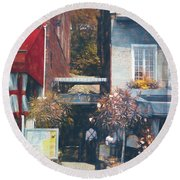 Hotel Nelson - Cafe - Old Montreal Round Beach Towel