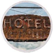 Hotel Pontotoc Round Beach Towel