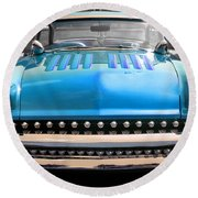 Round Beach Towel featuring the photograph Hotrod  by Raymond Earley