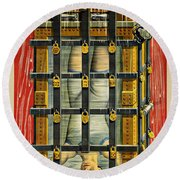 Houdini Advertisement 1916 Round Beach Towel by Andrew Fare
