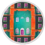 House Round Beach Towel