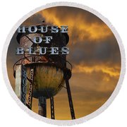 Round Beach Towel featuring the photograph House Of Blues  by Laura Fasulo