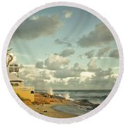 House Of Refuge Round Beach Towel