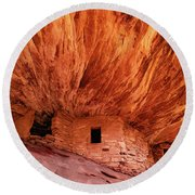 House On Fire Round Beach Towel