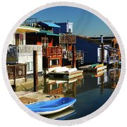 Houseboats Round Beach Towel