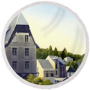 Houses At Murol Round Beach Towel