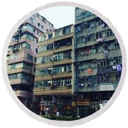 Houses Of Kowloon Round Beach Towel