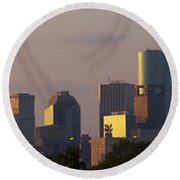 Houston Sunset Round Beach Towel