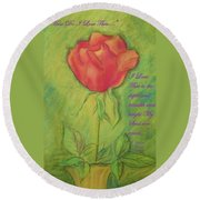 How Do I Love Thee ? Round Beach Towel