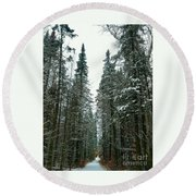 How Far Is Forever? Round Beach Towel