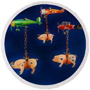 How Pigs Learn To Fly Round Beach Towel