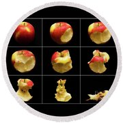 How To Eat An Apple In 9 Easy Steps Round Beach Towel