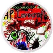 Hp Lovecraft Poster  Round Beach Towel