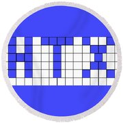 Htx Tile Tribute Round Beach Towel