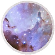 Round Beach Towel featuring the photograph Hubble Space Telescope Celebrates 25 Years Of Unveiling The Universe by Nasa
