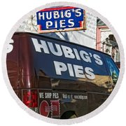 Hubig's Pies 2 New Orleans Round Beach Towel