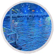 Hudson Electric Round Beach Towel