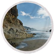 Hug Point Beach Round Beach Towel