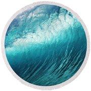 Huge Glassy Wave Round Beach Towel