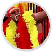 Hulk Hogan Round Beach Towel