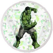 Hulk Splash Super Hero Series Round Beach Towel
