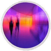 Human Reflections Round Beach Towel