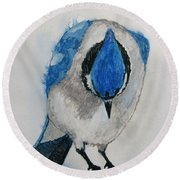 Humble Blue Round Beach Towel by Patricia Arroyo