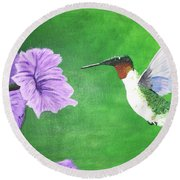 Hummer Round Beach Towel