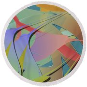 Hummingbird Convention Round Beach Towel