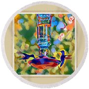 Hummers Round Beach Towel