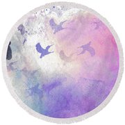 Hummingbird Dreams Round Beach Towel