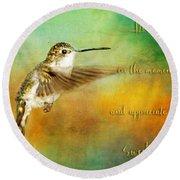 Hummingbird Hover Round Beach Towel