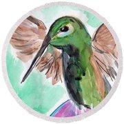 Hummingbird4 Round Beach Towel