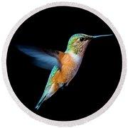 Hummming Bird Round Beach Towel