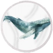 Humpback Whale From Whales Chart Round Beach Towel